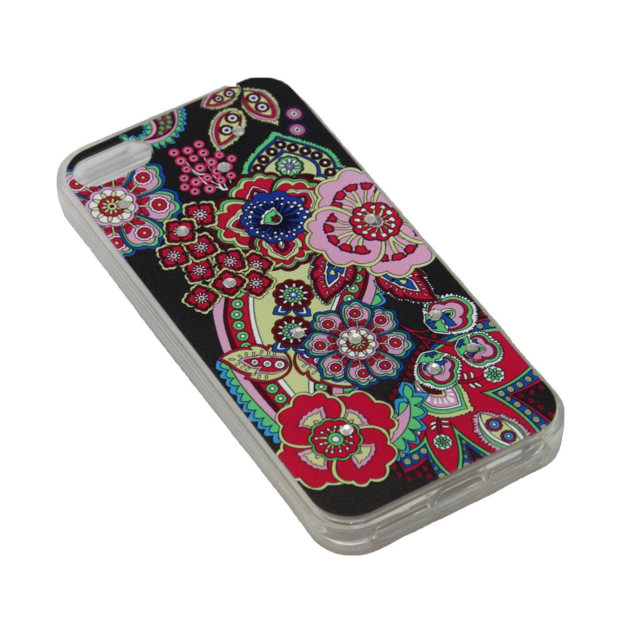 Чехол Fashion Силикон Стразы Samsung J5 Prime