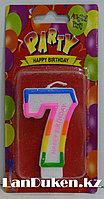 """Свеча цифра """"7"""" для торта"""