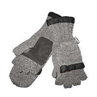Перчатки-рукавици вязанные
