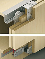 Механизм для двух раздвижных дверей Slido Classic 50 VF P. Толщина дверей 22-25 мм., фото 1