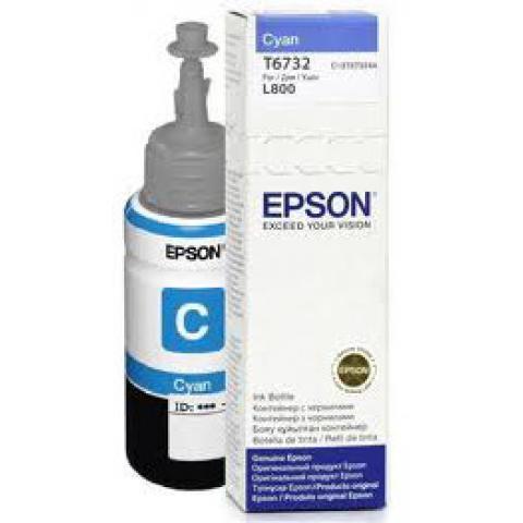 Чернила Epson C13T67324A L800/1800/810/850 голубой