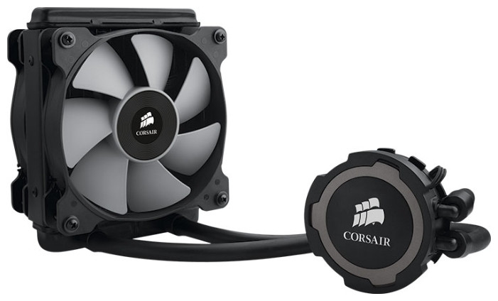 Water Cooler, Corsair H75 [CW9060015-WW], for 115x/1366/2011/AMD, 2*12cm PWM fan - ANTS в Алматы