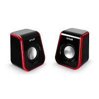 SPK active Delux DLS-Q1UR (2.0), RMS 2Wx2, Black-red