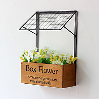Натуральные деревянные ящики для цветов и декоративных деревьев