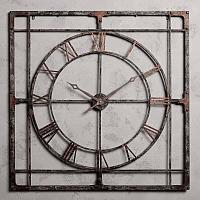Настенные часы в большой металлической раме  Big Clock Metal Frame