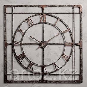 Настенные часы в большой металлической раме  Big Clock Metal Frame, фото 2