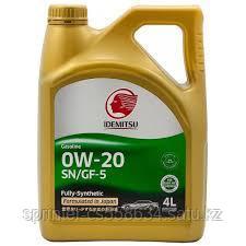 Моторное масло IDEMITSU 0W20 4 литра