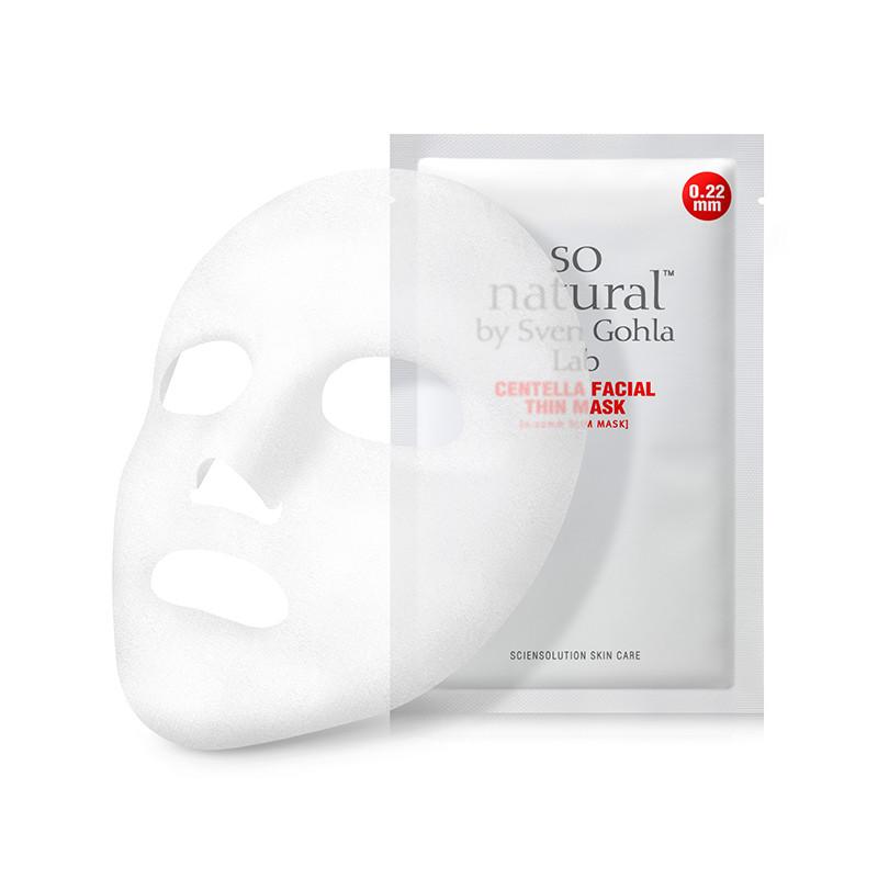 Успокаивающая маска для лица с экстрактом центеллы So Natural Calming Centella Facial Thin Mask, 1 шт