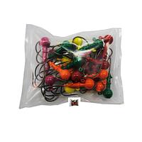 Грузило Джиг-головка сапожок, шар цветная 25шт  22гр