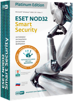 ESET NOD32 Smart Security Platinum Edition(BOX) База 3ПК/2года