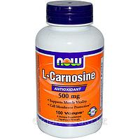 Now Foods, L-Carnosine L- Карнозин, 500 mg, 100 капсул.