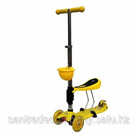 Самокат Scooter OK Tolocar (Yellow) - Balapantoys                        в Алматы