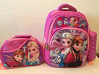 Школьный рюкзак для девочек с1-го по 3-й класс.Тройка.Высота 38см,длина 27см,ширина 18см., фото 1