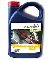 Масло моторное TEX-OIL 5W-40 API SL/CF PLATINUM - 4 литр