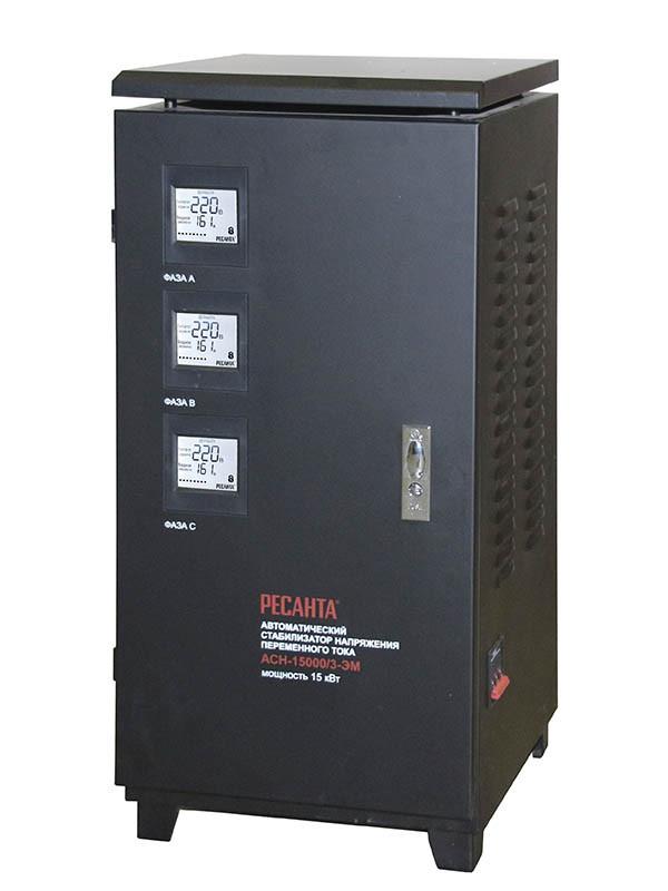 Стабилизатор напряжения Ресанта ACH-15000/3-ЭМ (трёхфазный)