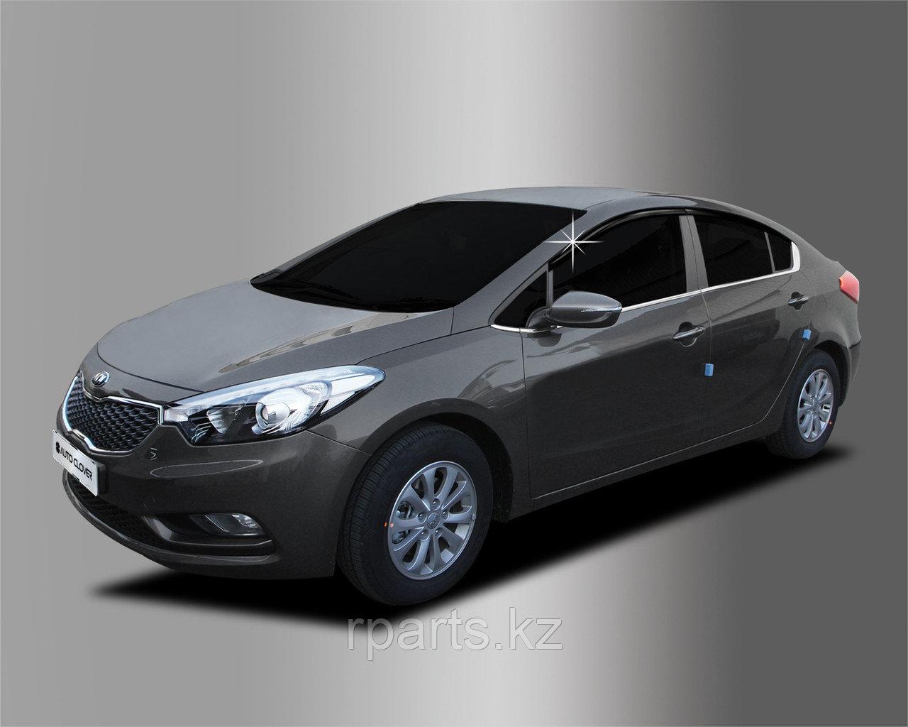 Дефлекторы боковых окон для Kia Cerato 2013-2014