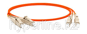 Hyperline FC-D2-62-LC/PR-LC/PR-H-3M-LSZH-OR Патч-корд волоконно-оптический (шнур) MM 62.5/125, LC-LC, 2.0 мм, duplex, LSZH, 3 м