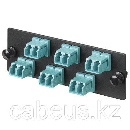 PANDUIT FAP6WAQDLCZ Панель OPTICOM для 6 LC 10GIG™ дуплексных многомодовых оптических адаптеров с муфтами из циркониевой керамики (морская волна)