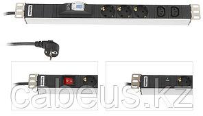 Hyperline SHT-9SH-3IEC-S-2.5EU Блок розеток, 9 розеток + 3 х IEC320 C13, выключатель, шнур 2.5м (723 x 44.4 x 44.4 мм)