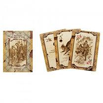 """Набор на ремне """"Волк"""" (4 предмета: фляжка, зажигалка, нож, карты), дл. 110 см, фото 2"""