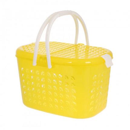 Корзина-переноска большая, цвет желтый прозрачный, фото 2