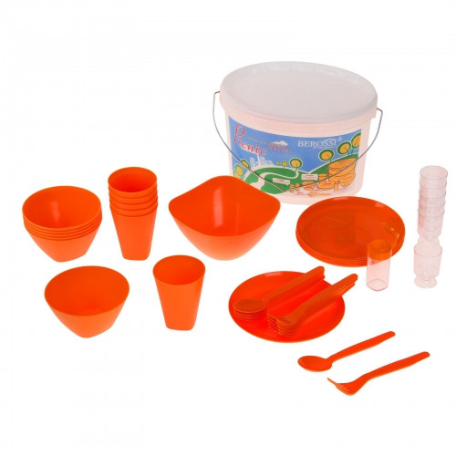 Набор для пикника Picniс, 39 предметов, цвет мандарин