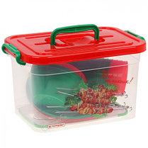 Набор для пикника на 6 персон (контейнер 6,5 л), 32 предмета, фото 3
