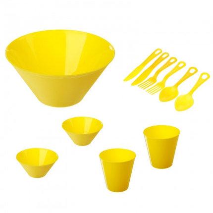 Набор для пикника на 2 персоны, цвет желтый, фото 2