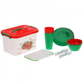 Набор для пикника на 6 персон (контейнер 6,5 л), 32 предмета, фото 2