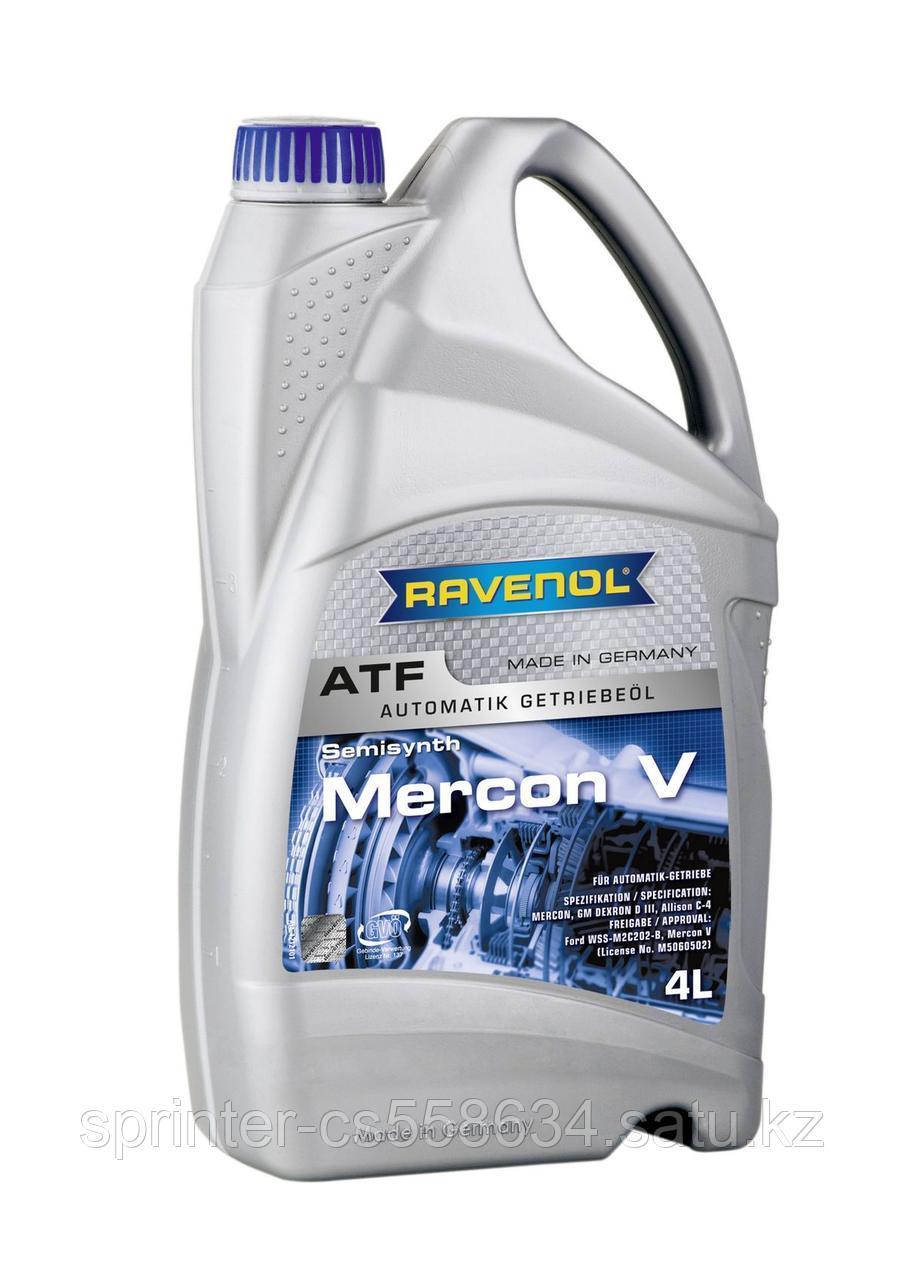 Трансмиссионное масло RAVENOL ATF Mercon V  4 литра