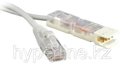 Hyperline PC-110-RJ45-2P-T-3M-LSZH-GY Патч-корд 110 тип-RJ45, 2 пары, USOC, LSZH, 3 м, серый