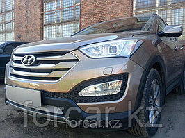 Защита радиатора Hyundai  SANTA FE с 2013- chrome
