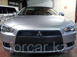 Защита радиатора Mitsubishi Lancer X 2007-2011 (2 части )  black