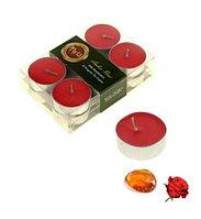 Свечи арома (набор 12 шт) Амбер - Роза