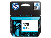Cyan Ink Cartridge №178 for PhotoSmart C6383/8553/D5463/C5383, up to 250 pages.