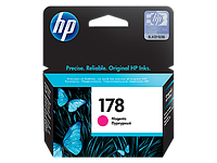 Magenta Ink Cartridge №178 for PhotoSmart C6383/8553/D5463/C5383, up to 250 pages.