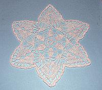 Салфетка вязаная - белая звезда (21 см)