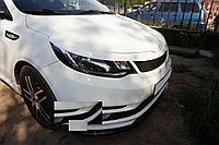Накладки на фары (реснички) Kia Rio 2015+ рестайлинг вариант 2