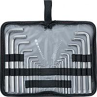 Набор ключей имбусовых HEX-TORX, 18 шт: HEX 1,5–10 мм, T10-T50, CrV, удлиненные, сатин. MATRIX 12315, фото 1
