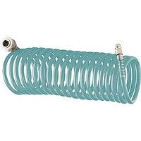 Полиуретановый спиральный шланг 15 метров, профессиональный BASF, с быстросъемными соединением  Stels 57009