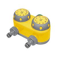 Таймер для полива, разветвление на 2 линии, механический механизм, PALISAD LUXE, 66197