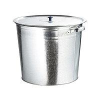 Бак для воды 20 литров, оцинкованный с крышкой (крышка с ручкой), без крана, 67548
