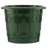 Горшок Тюльпан с поддоном, зеленый, 8,5 л, PALISAD, 69240