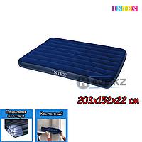 Двухспальный надувной матрас Intex 68759, размер 203x152x22 см, фото 1