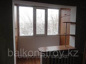 Отделка балконов и лоджий. Объединение балкона с комнатой, Алматы