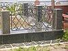 Оградка ритуальная кованная