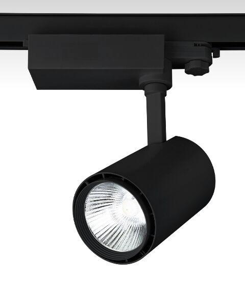Трековый светодиодный светильник LD-20W  СОВ-диод, черный
