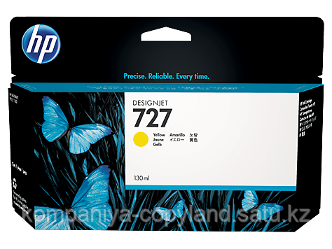 HP B3P21A Yellow Ink Cartridge №727 for DesignJet T1500/T2500/T920, 130 ml.