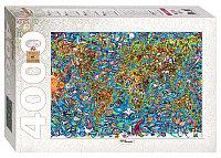 """Мозаика """"puzzle"""" 4000 """"Карта мира"""" Степпазл"""