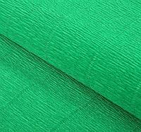 Итальянская Бумага гофрированная 563 зеленая, 50 см х 2,5 м
